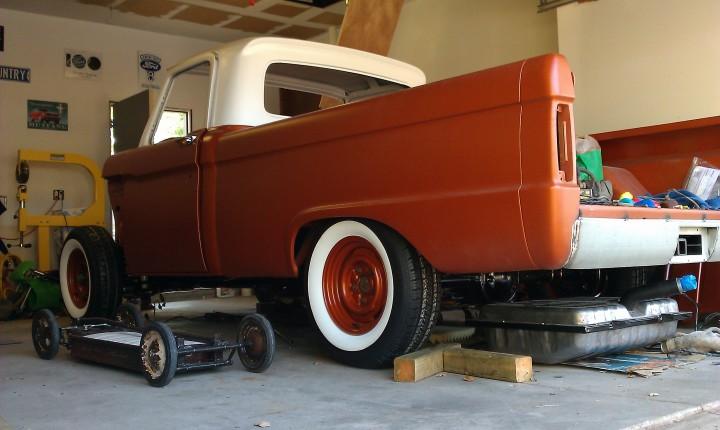 1966 custom F100 Lowered the back 4 inches