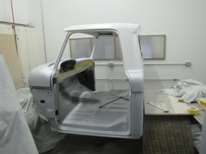 Cab top is white now