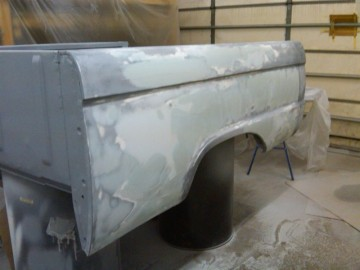 More body work on Bed