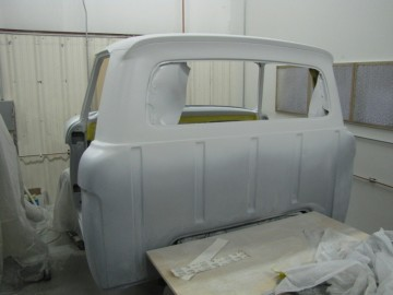 White is painted on Cab