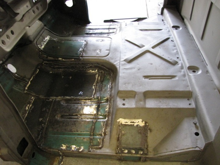 Cab floor done being welded
