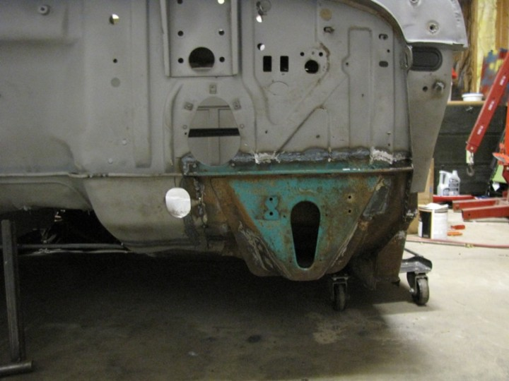 Donor Floor pan and cab mount welded in on driver side