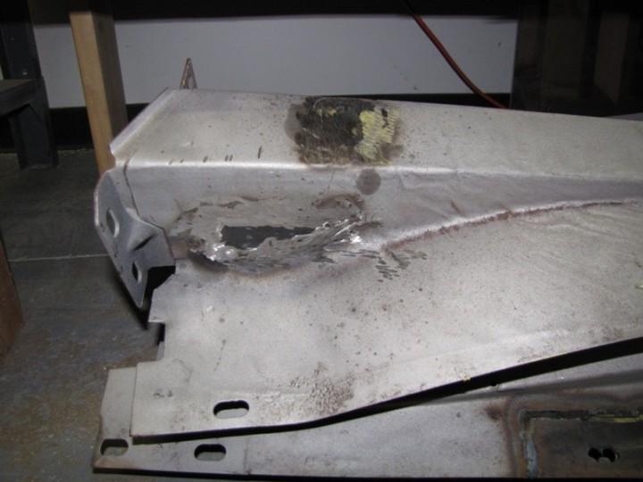 Fixing inner fender well rusty spots