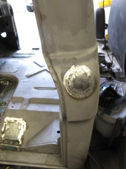 Gas tank hole welded in