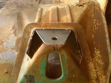 Bottom of Cab mount