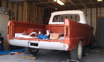 66 custom F100 Hidden tow hitch behind license plate