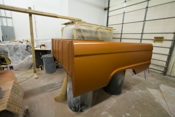 Bed painted for a 66 custom F100