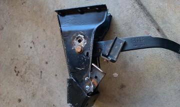 Relocate brake pedal