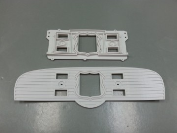 Front and back panels of the FDM speedometer panel